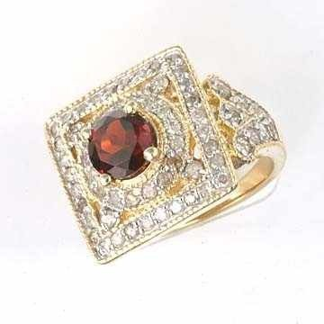 239: 2.50 CTW Garnet & Diamond Ring