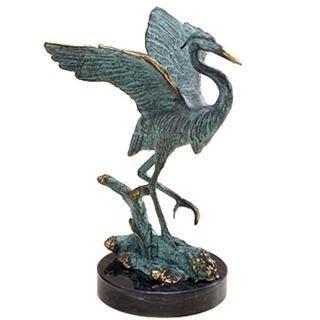 247: Heron Bronze Sculpture