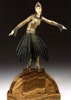 """249: CHIPARUS - """"STARLIGHT"""" - BRONZE AND IVORY SCULPTUR"""