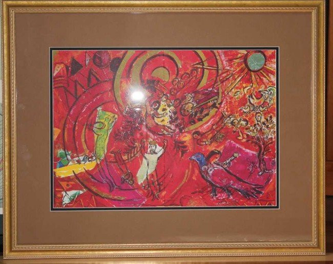 306: Marc Chagall Hand Signed Lithograph in Colors