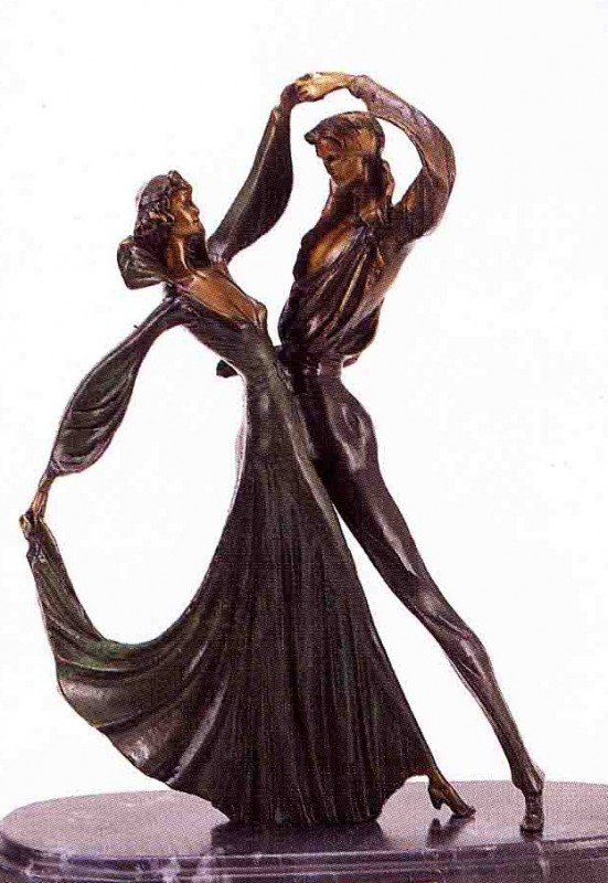 "800: ""Tango"" Bronze Sculpture by Chiparus"