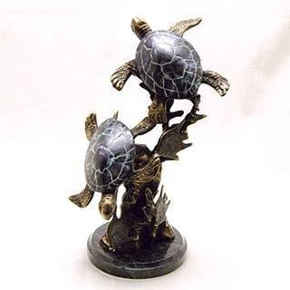 5: Sea Turtle Pair Bronze Sculpture