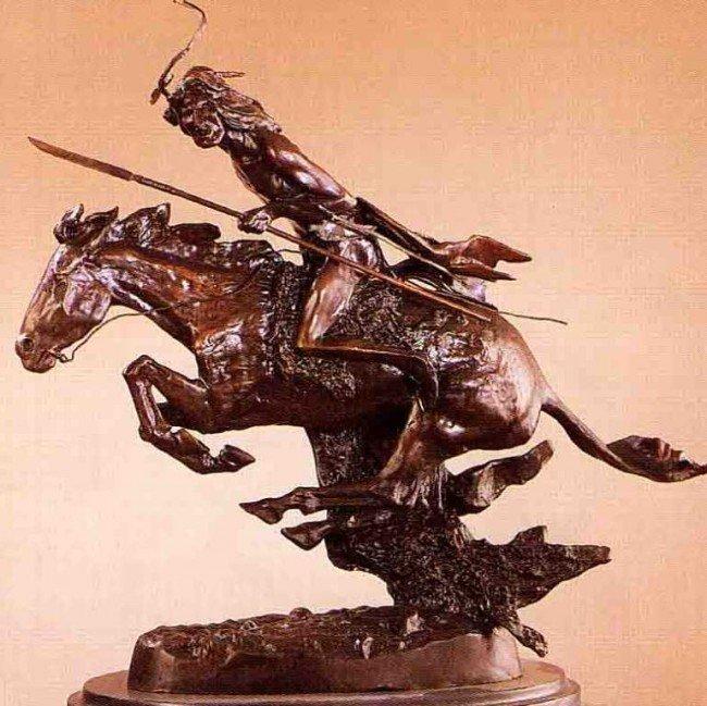 """9: """"Cheyenne"""" Bronze Sculpture by Remington"""