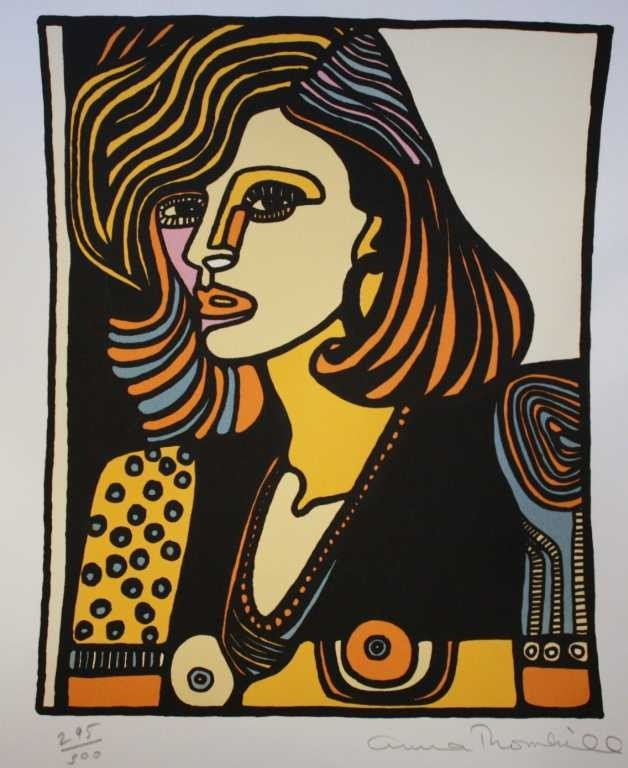 12: THORNHILL HAND SIGNED LITHOGRAPH