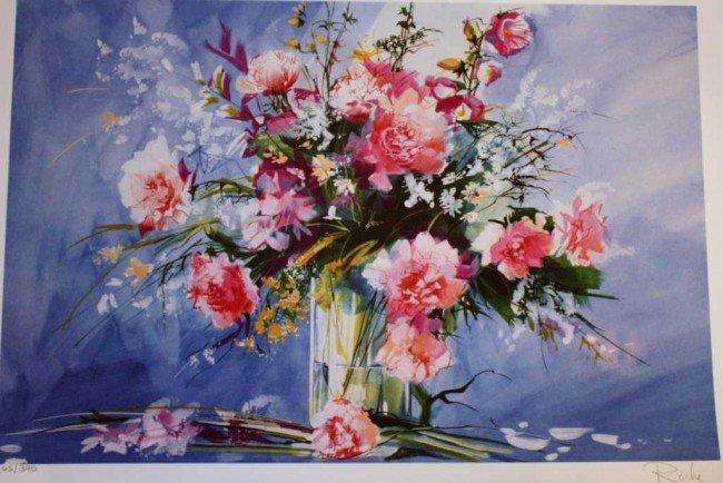 """16: ROCHE """"FLORAL"""" HAND SIGNED"""