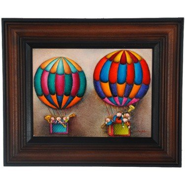 """24: """"MUSICAL BALOONS"""" - ORIGINAL OIL ON CANVAS - MINT"""