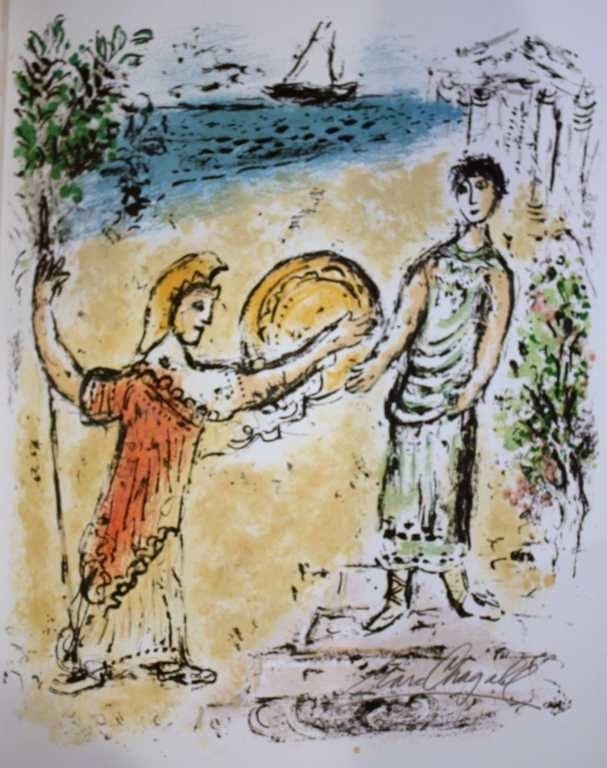 26: MARC CHAGALL HAND SIGNED LITHOGRAPH