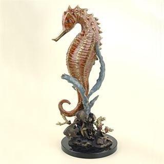 25: Seahorse with Bronze Sculpture