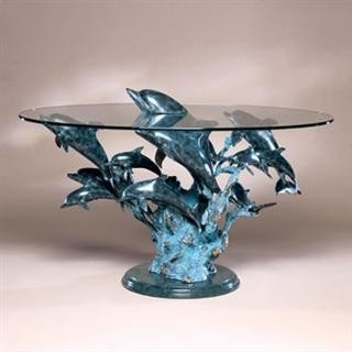 2: Dolphin Bronze Sculpture Coffee Table