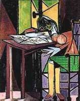 "1033: PICASSO ""GIRL READING AT DESK"""