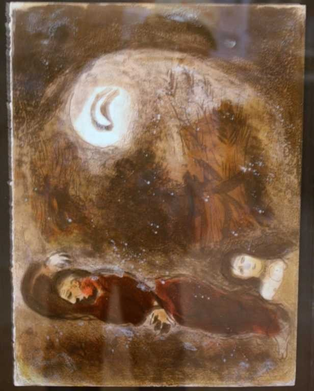 "1045: MARC CHAGALL ""RUTH AT THE FEET OF BOAZ"" ORIGINAL"