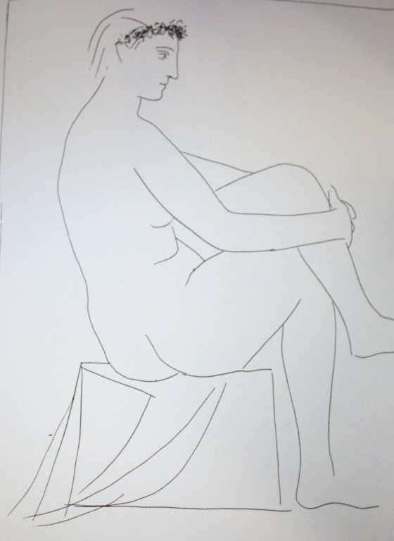 """2: PICASSO """"SEATED NUDE CROWNED WITH FLOWERS"""""""