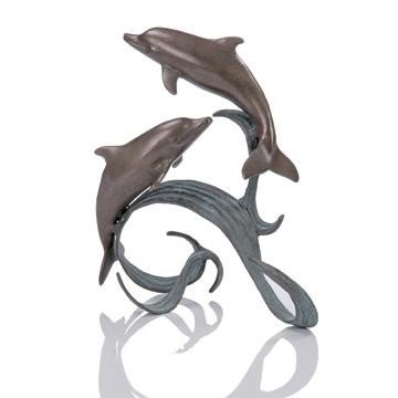 9: Double Dolphins Bronze Sculpture
