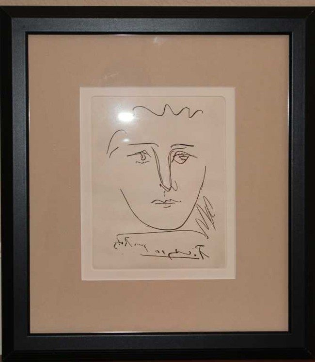 """532: PICASSO """"POUR ROBY"""" - ETCHING"""
