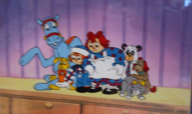 """3: """"RAGEDY ANN AND FRIENDS"""" ANIMATION CELL"""
