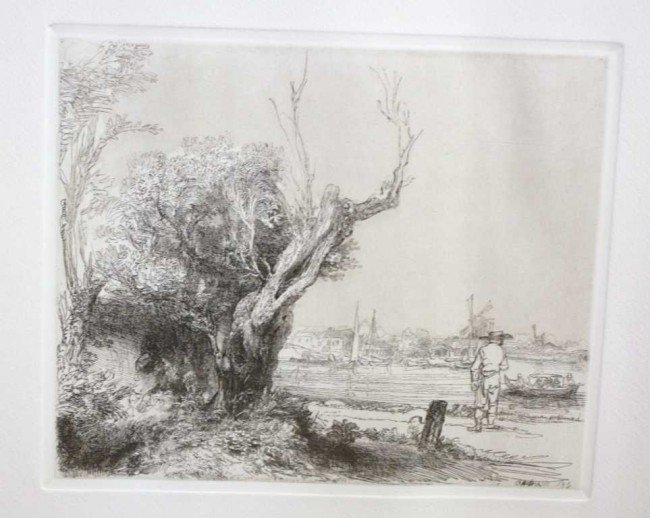 """19: DURAND """"LANDSCAPE WITH TREES """" ORIGINAL ETCHING"""