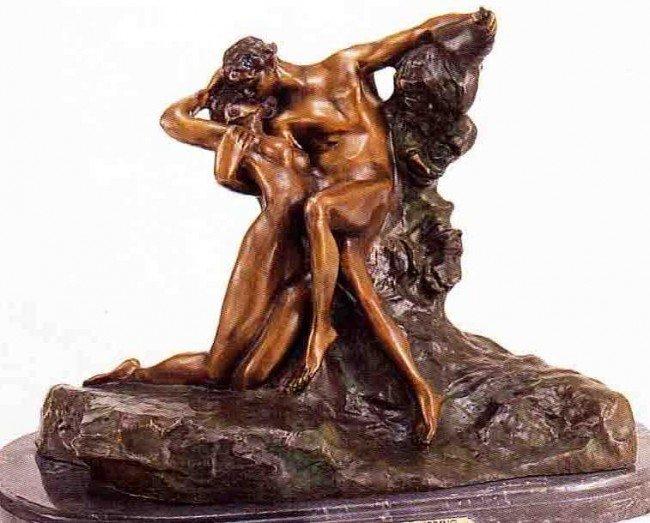 """22: """"Eternal Spring"""" Bronze Sculpture by Rodin"""