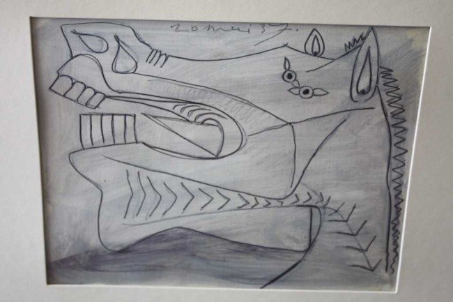 """23: PICASSO - """"STUDY OF GUERNICA"""" - 1937 - MINT"""