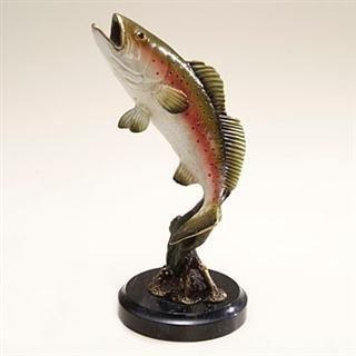 24: Sea Trout Bronze Sculpture