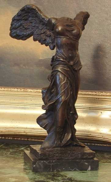 2: WINGED VICTORY OF SAMOTHRACE BRONZE SCULPTURE