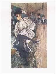 "19: TOULOUSE LAUTREC ""JANE AVRIL DANCING"""