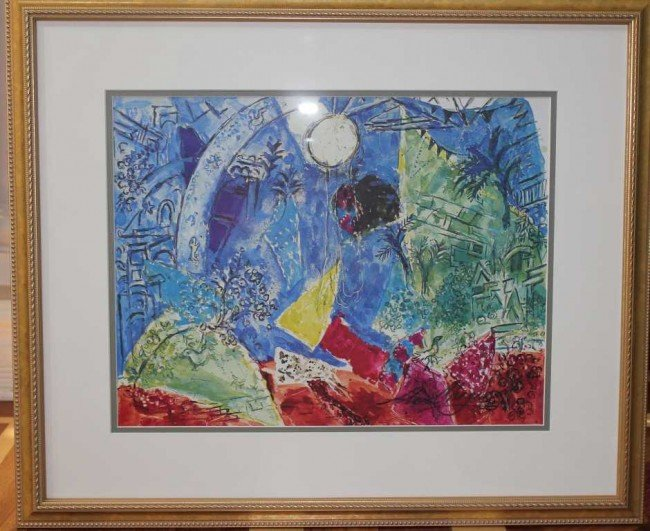 373: Marc Chagall Hand Signed Lithograph in Colors