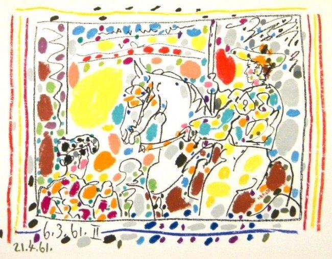 "467N: Picasso ""Le Picador"" original lithograph"