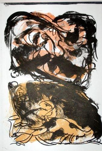 22T: Pierre Alechinsky original lithograph