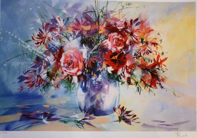 """10: ROCHE """"FLORAL"""" HAND SIGNED"""