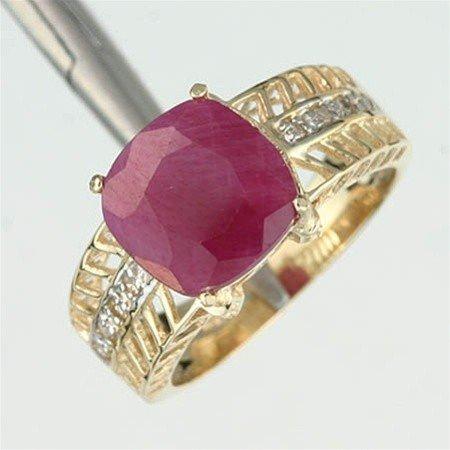 13: 3.0 CTW. RUBY & DIAMOND RING - 10KY GOLD