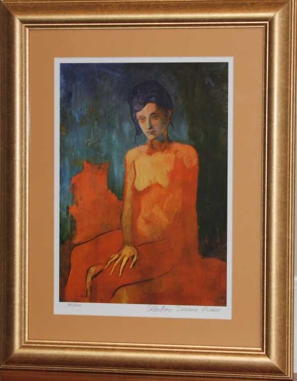 """14: PICASSO """"SEATED NUDE"""" LMT EDITION"""