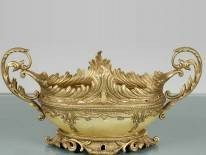 19: CLEAR POLY RESIN  BOWL - VERY ORNATE