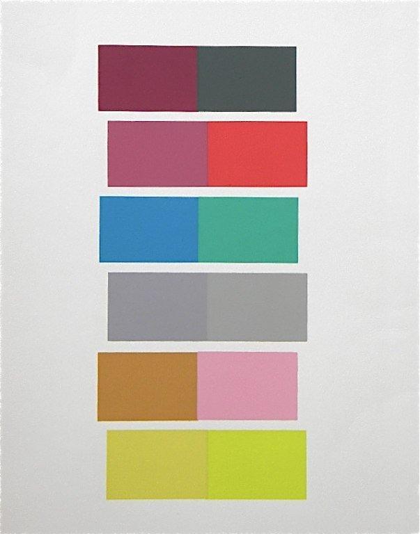 """7: Albers silkscreen """"Interaction of Color"""" 1963"""