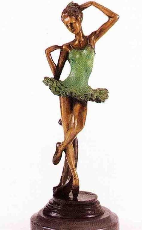 "6: ""Ballerina"" Bronze Sculpture by Fayral"