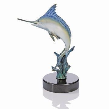 8: Jumping Marlin Bronze Sculpture