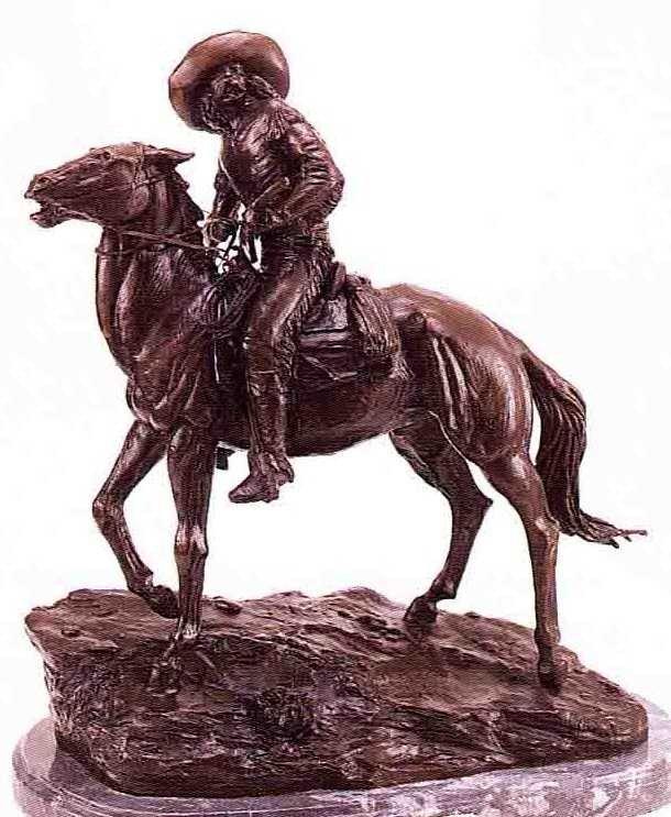 """11: """"Scout"""" Bronze Sculpture by Remington"""