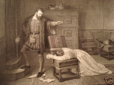 """18: """"THE PARTING""""  ANTIQUE STEEL ENGRAVING"""