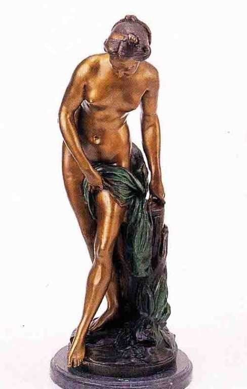 """20: """"Nude Girl"""" Bronze Sculpture by Falconet"""
