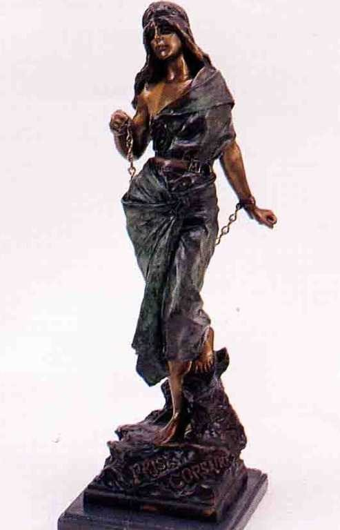 "25: ""Woman In Bondage"" Bronze Sculpture by Villanis"