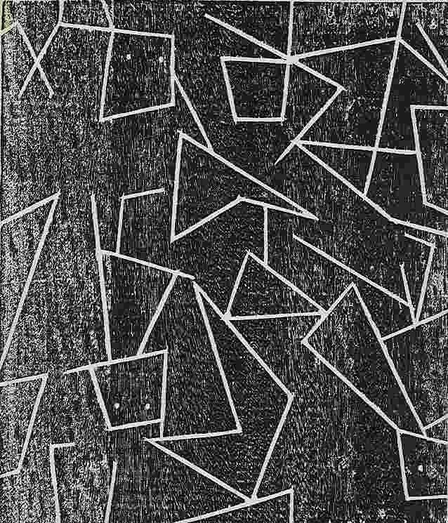 152: Jean Arp original woodcut, 1947