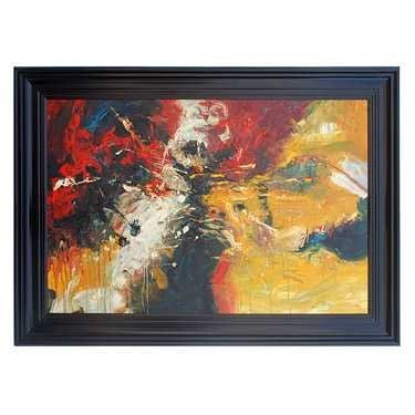 "28: ""ABSTRACT III"" - ORIGINAL OIL ON CANVAS - MINT"