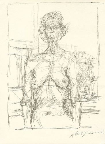 """4: Alberto Giacometti lithograph """"Nu aux fleurs"""""""