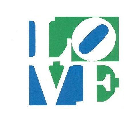 8: Robert Indiana LOVE silkscreen (Trilove)