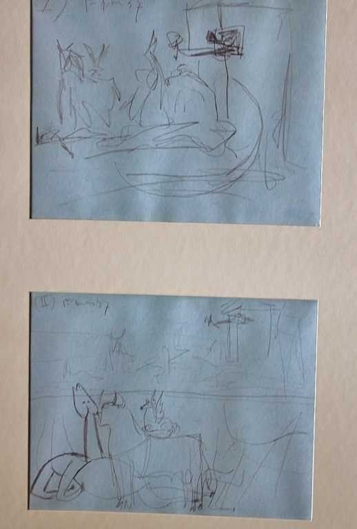 """16: PICASSO - """"STUDY OF GUERNICA"""" - 1937 - MINT"""