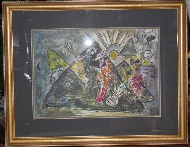26: Marc Chagall Hand Signed Lithograph in Colors