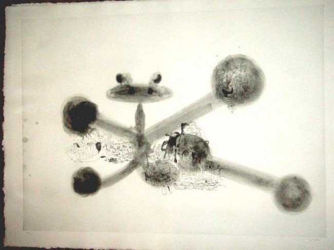764: RARE CONDO SIGNED ETCHING W/ AGUATINT