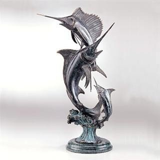 15: Marlin & Sailfish Bronze Sculpture