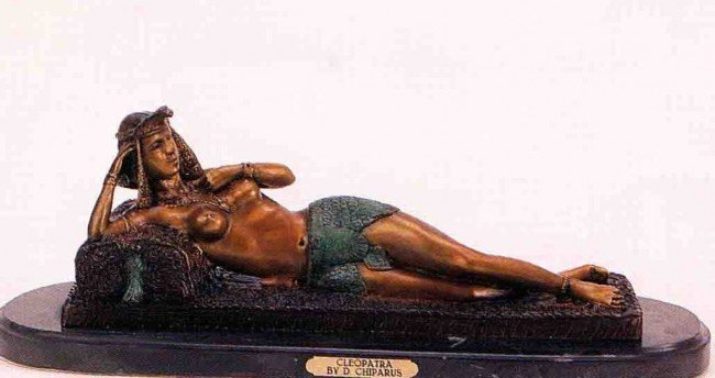 """21: """"Cleopatra"""" Bronze Sculpture by Chiparus"""