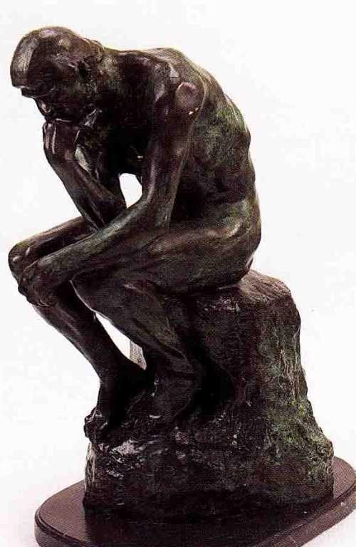 "24: ""Thinker"" Bronze Sculpture by Rodin"