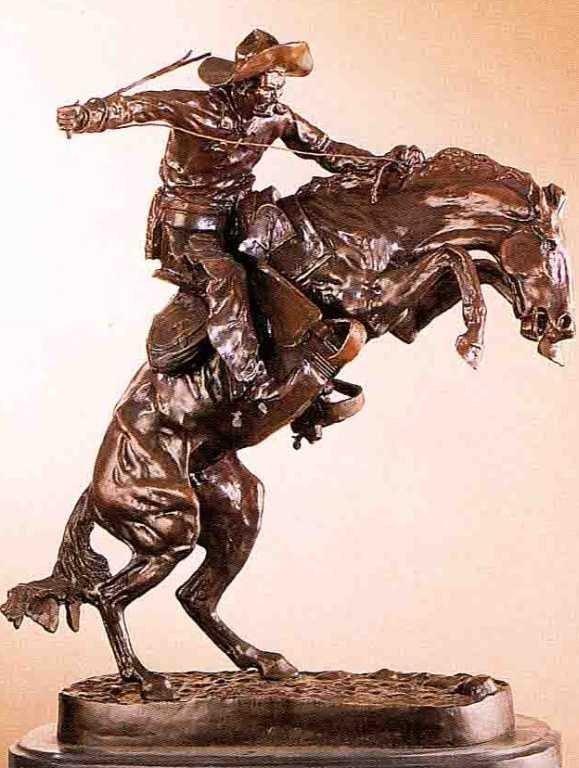 """7: """"Bronco Buster"""" Bronze Sculpture -  Remington"""